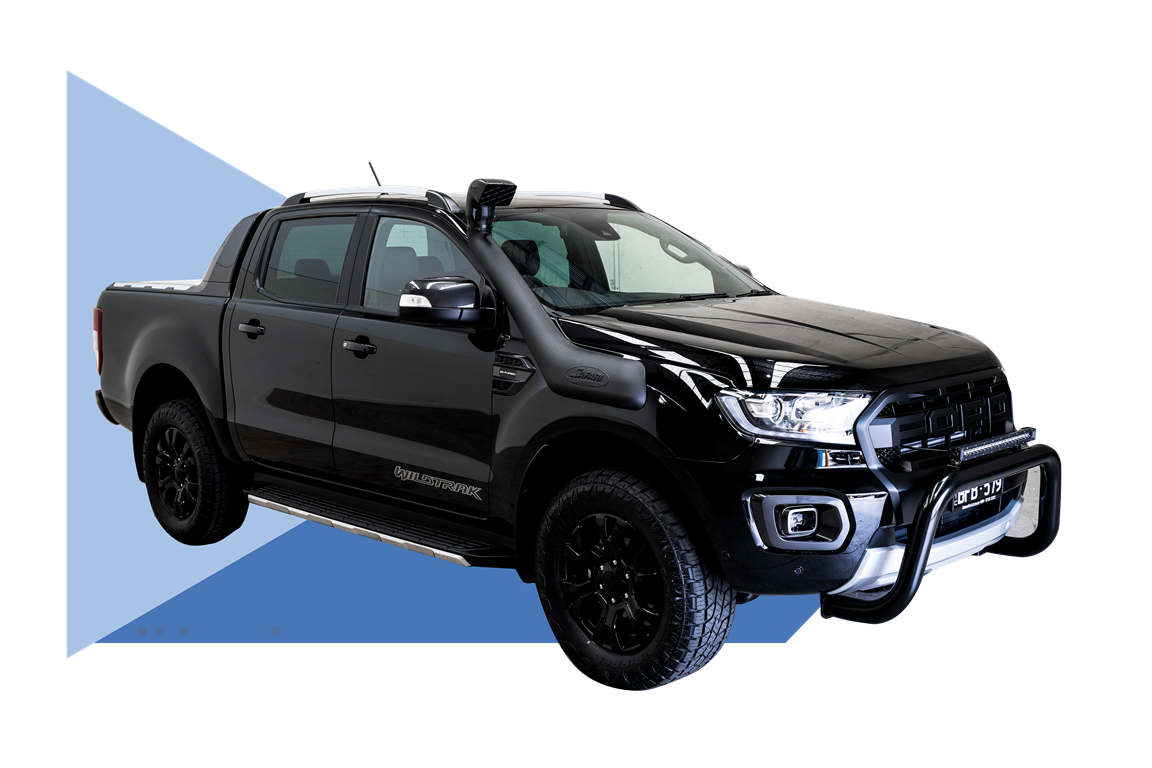 Ford Ranger Wildtrak on blue background
